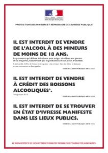 Affiches et mineurs : débits de boissons, points de vente de carburants et sites de vente en ligne
